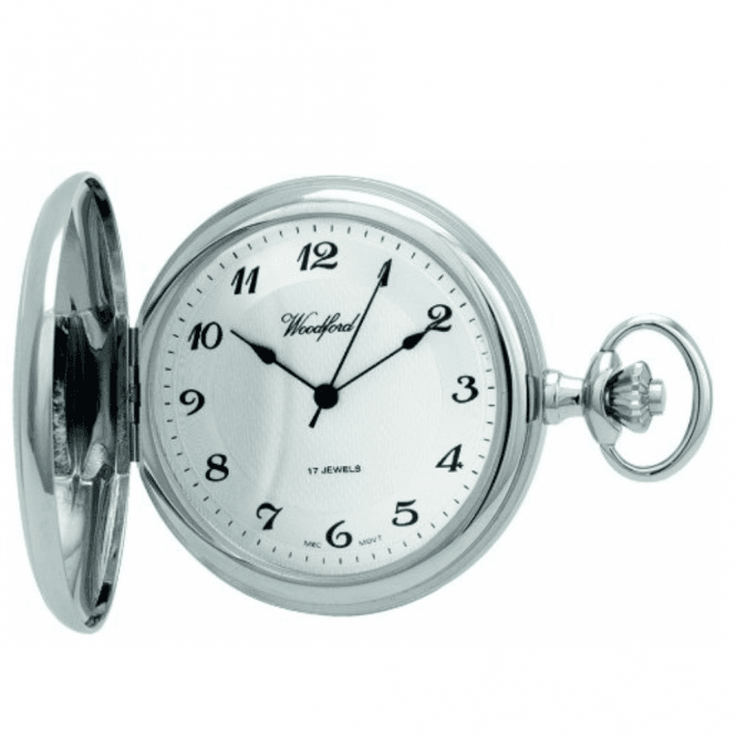Woodford Chrome Full Hunter Pocket Watch 1027