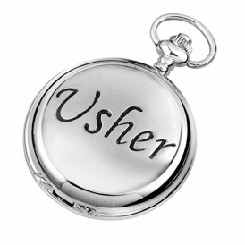 Chrome Usher Full Hunter Pocket Watch 1888/Q