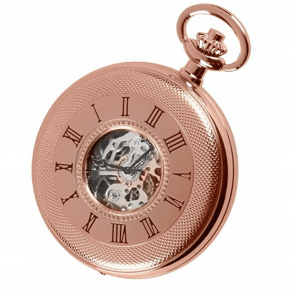 Rose Gold Skeleton Half-Hunter Pocket Watch 1092