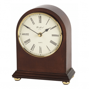 Traditional Mahogany Mantel Quartz Clock 1433